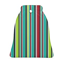 Colorful Striped Background. Ornament (Bell)