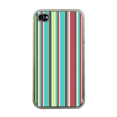 Colorful Striped Background. Apple iPhone 4 Case (Clear)