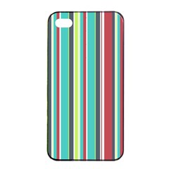 Colorful Striped Background. Apple iPhone 4/4s Seamless Case (Black)