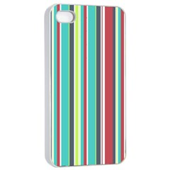 Colorful Striped Background. Apple iPhone 4/4s Seamless Case (White)