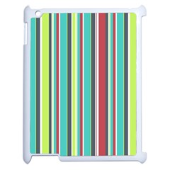 Colorful Striped Background. Apple iPad 2 Case (White)