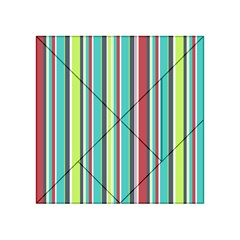 Colorful Striped Background. Acrylic Tangram Puzzle (4  x 4 )