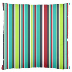 Colorful Striped Background. Large Cushion Case (One Side)