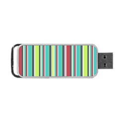 Colorful Striped Background. Portable USB Flash (Two Sides)