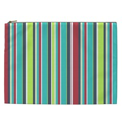 Colorful Striped Background. Cosmetic Bag (XXL)