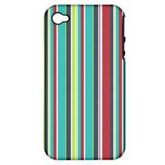Colorful Striped Background. Apple iPhone 4/4S Hardshell Case (PC+Silicone)