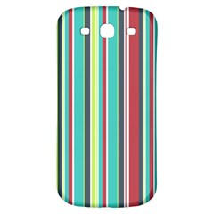 Colorful Striped Background. Samsung Galaxy S3 S III Classic Hardshell Back Case