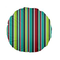 Colorful Striped Background. Standard 15  Premium Round Cushions