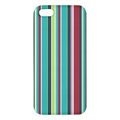 Colorful Striped Background. Apple iPhone 5 Premium Hardshell Case