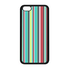 Colorful Striped Background. Apple iPhone 5C Seamless Case (Black)