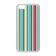 Colorful Striped Background. Apple iPhone 5C Seamless Case (White)