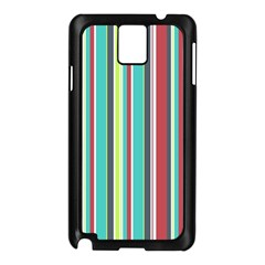 Colorful Striped Background. Samsung Galaxy Note 3 N9005 Case (Black)