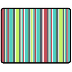 Colorful Striped Background. Double Sided Fleece Blanket (Medium)