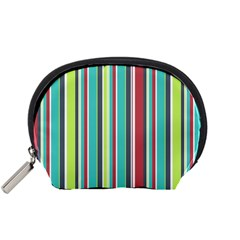 Colorful Striped Background. Accessory Pouches (Small)