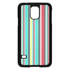 Colorful Striped Background. Samsung Galaxy S5 Case (Black)