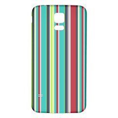 Colorful Striped Background. Samsung Galaxy S5 Back Case (White)