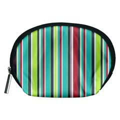 Colorful Striped Background. Accessory Pouches (Medium)