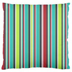 Colorful Striped Background. Large Flano Cushion Case (One Side)
