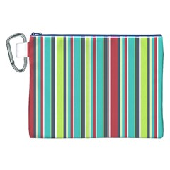 Colorful Striped Background. Canvas Cosmetic Bag (XXL)