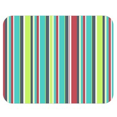 Colorful Striped Background. Double Sided Flano Blanket (Medium)