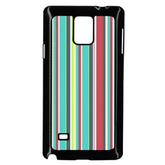 Colorful Striped Background  Samsung Galaxy Note 4 Case (black)