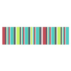 Colorful Striped Background. Satin Scarf (Oblong)