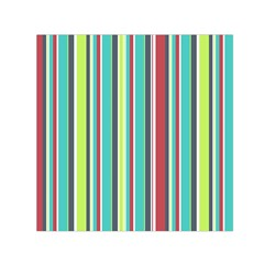 Colorful Striped Background. Small Satin Scarf (Square)