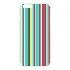 Colorful Striped Background. Apple Seamless iPhone 6 Plus/6S Plus Case (Transparent)