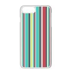 Colorful Striped Background. Apple iPhone 7 Plus White Seamless Case