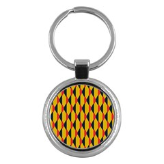 Triangles pattern       Key Chain (Round)