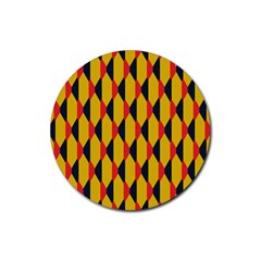Triangles pattern       Rubber Coaster (Round)