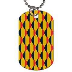 Triangles pattern       Dog Tag (One Side)