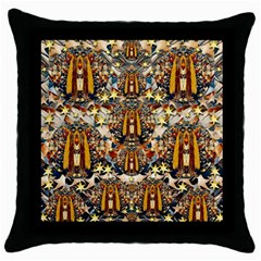 Lady Panda Goes Into The Starry Gothic Night Throw Pillow Case (Black)