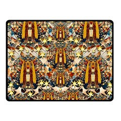 Lady Panda Goes Into The Starry Gothic Night Fleece Blanket (Small)