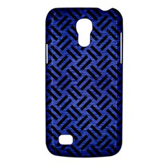Woven2 Black Marble & Blue Brushed Metal (r) Samsung Galaxy S4 Mini (gt I9190) Hardshell Case