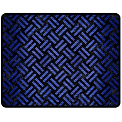 Woven2 Black Marble & Blue Brushed Metal Fleece Blanket (medium)