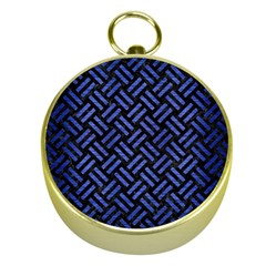 Woven2 Black Marble & Blue Brushed Metal Gold Compass
