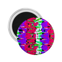 Colorful Glitch Pattern Design 2.25  Magnets