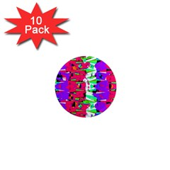 Colorful Glitch Pattern Design 1  Mini Magnet (10 pack)