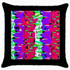 Colorful Glitch Pattern Design Throw Pillow Case (Black)