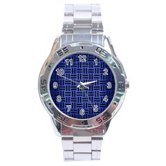 WOV1 BK-MRBL BL-BRSH (R) Stainless Steel Analogue Watch