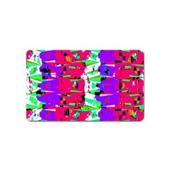 Colorful Glitch Pattern Design Magnet (Name Card)