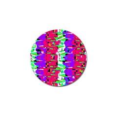 Colorful Glitch Pattern Design Golf Ball Marker
