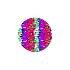Colorful Glitch Pattern Design Golf Ball Marker (10 pack)