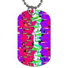 Colorful Glitch Pattern Design Dog Tag (Two Sides)