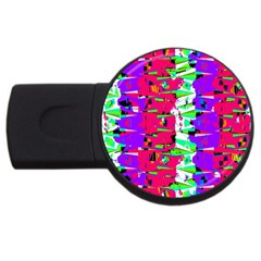 Colorful Glitch Pattern Design USB Flash Drive Round (1 GB)
