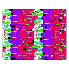 Colorful Glitch Pattern Design Rectangular Jigsaw Puzzl