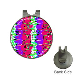 Colorful Glitch Pattern Design Hat Clips with Golf Markers