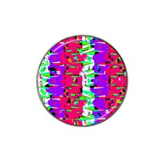 Colorful Glitch Pattern Design Hat Clip Ball Marker