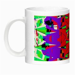 Colorful Glitch Pattern Design Night Luminous Mugs
